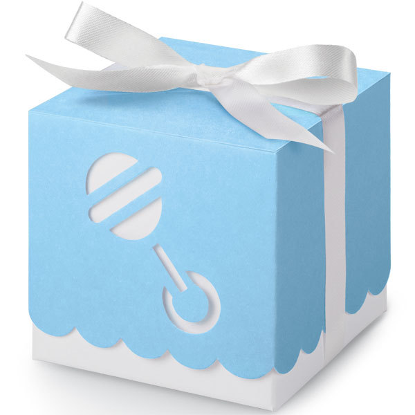 Wilton favor box blue rattle creations by hand - Wilton baby shower favors ...