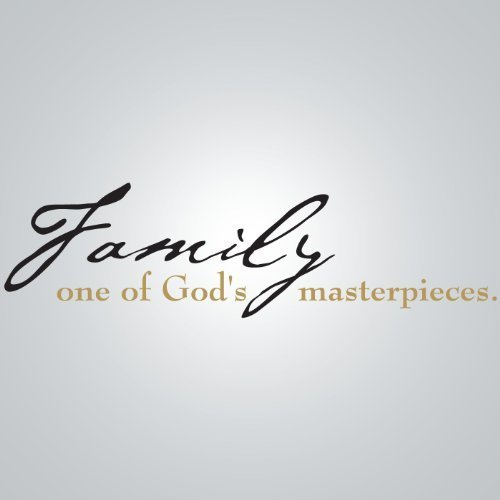 DCWV HOME – Wall Lettering – Black/Gold Vinyl – Family God's Masterpiece
