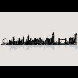 Dcwv Wall Art Vinyl London Cityscape Creations By Hand
