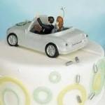 Honeymoon couple in car