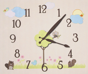 Dcwv Home Wall Clock Art Walk In The Park Creations