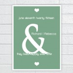 Special Days Wall Art - Wedding Date