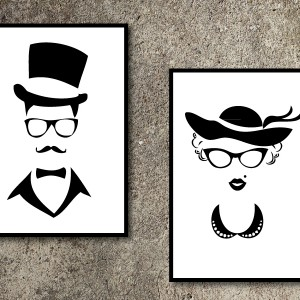 Madam and Mister Wall Art