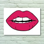 Retro Lips Wall Art